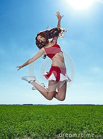 Beauty cheerleader