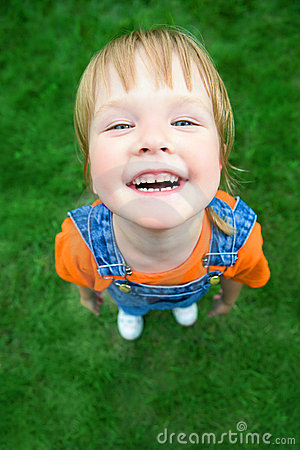 Free Beauty Child Portrait From Above Perspective Royalty Free Stock Image - 6083446
