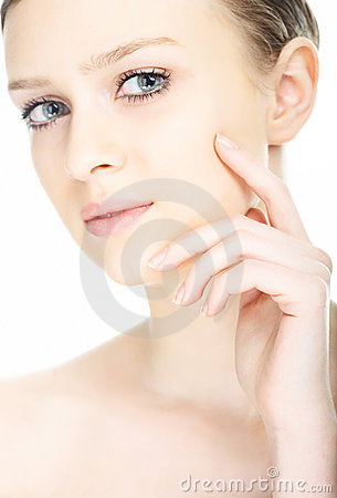 Free Beauty Close-up Portrait Young Woman Face Stock Photography - 8585322