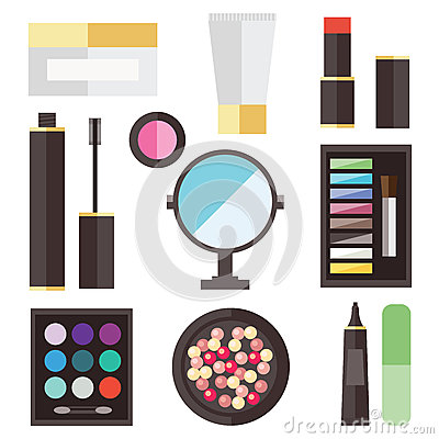Beauty cosmetic icons Vector Illustration