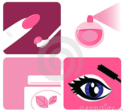 Beauty, cosmetic and makeup icons