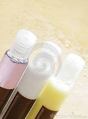 Beauty cosmetics bottles