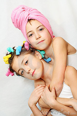 Free Beauty Day Of Twin Sisters Royalty Free Stock Photos - 4693068