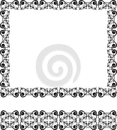 Beauty design frame and border
