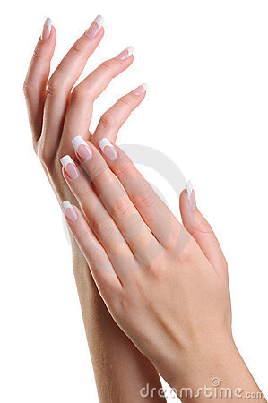 Free Beauty Elegant Female Hands With French Manicure Royalty Free Stock Photo - 11661975