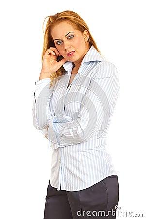 Beauty executive woman