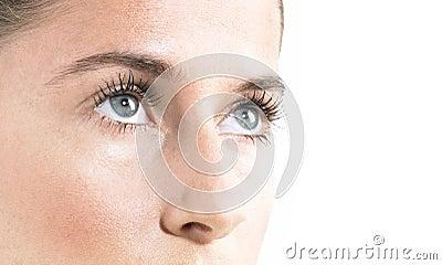 Beauty face close up