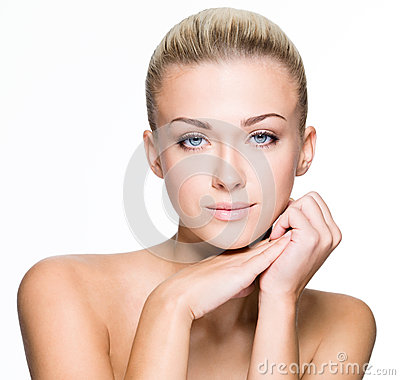 Free Beauty Face Of Beautiful Young Woman - Isolated Royalty Free Stock Photo - 34111155