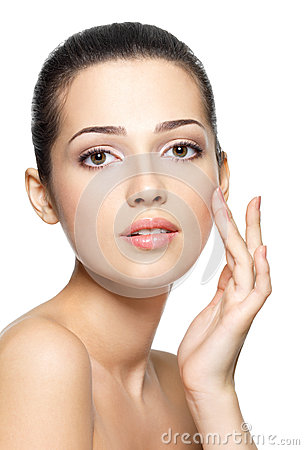 Free Beauty Face Of Young Woman. Skin Care Concept. Royalty Free Stock Photography - 27505327