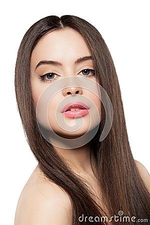 Beauty face of beautiful woman