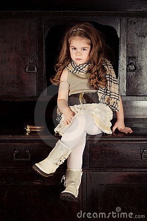Beauty and fashion child girl