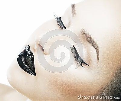 Beauty fashion clear healthy skin, fresh face