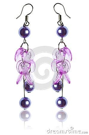 Beauty fashion concept - earrings
