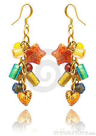 Beauty fashion concept - earrings