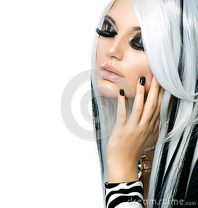 Free Beauty Fashion Gothic Girl Royalty Free Stock Image - 28548226