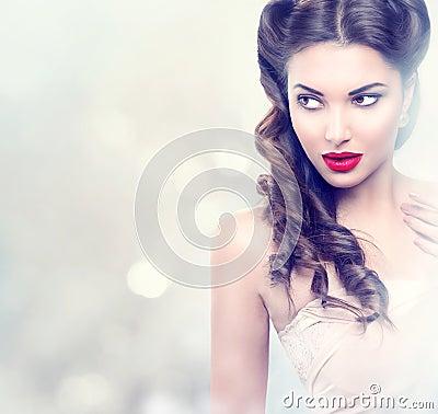 Free Beauty Fashion Model Retro Girl Royalty Free Stock Photos - 49191838