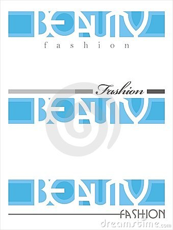 Beauty fashion saloon text
