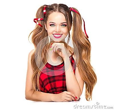 Free Beauty Fashion Teenage Girl Royalty Free Stock Images - 56827059