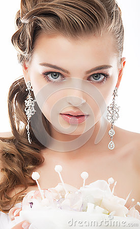 Free Beauty - Fashionable Bride Face Close Up Portrait Royalty Free Stock Photography - 25311607