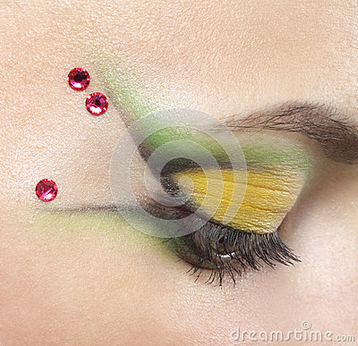 Beauty female eye Makeup