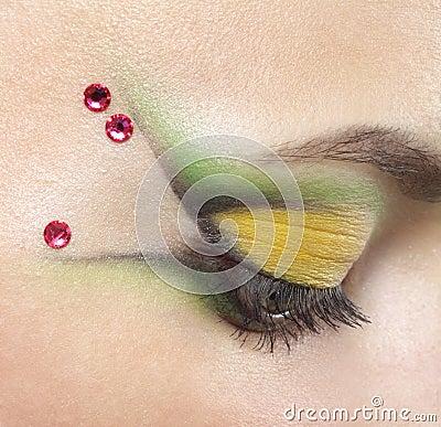 Beauty female eye Makeup