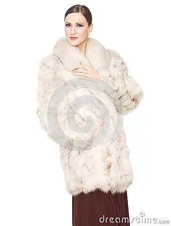 Beauty in Fur Coat