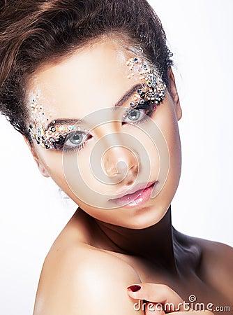 Beauty girl - Brignt brilliant vibrant makeup