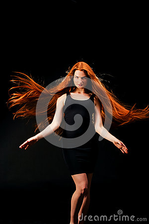 Free Beauty Girl Portrait. Healthy Long Red Hair. Beautiful Young Wom Royalty Free Stock Photography - 73607207