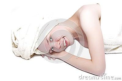Beauty girl after shower