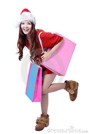 Beauty Girl Take Pink Blank Shopping Bag