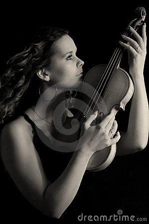 Beauty girl with violin