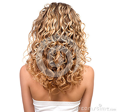 Free Beauty Girl With Blonde Permed Hair Stock Photo - 41395810