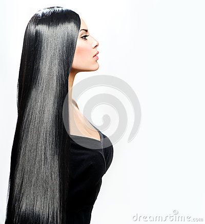 Free Beauty Girl With Long Black Hair Royalty Free Stock Photos - 29622988