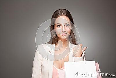 Beauty goes shopping.