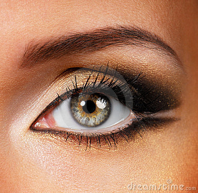 Free Beauty Golden-brown Make-up Royalty Free Stock Photo - 6527755