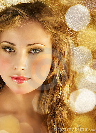Beauty in golden lights