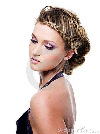 Free Beauty Hairstyle With Pigtails Stock Photo - 13774890