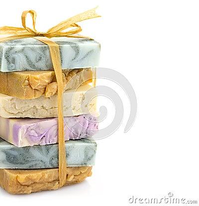 Beauty handmade soap pile
