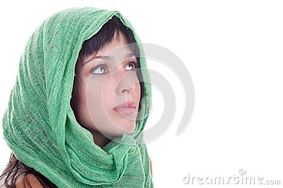 Beauty with a Head Scarf