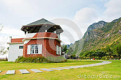 Beauty house at mountain