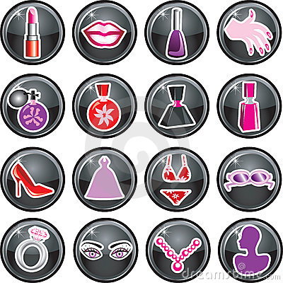Beauty Icon Buttons