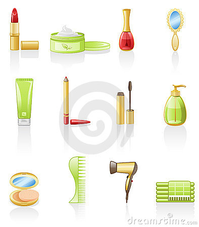 Beauty icon set.