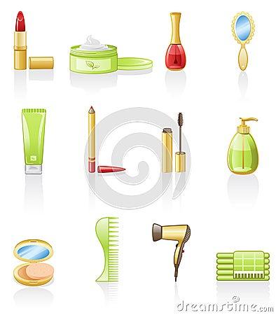 Beauty icon set.