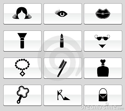 Free Beauty Icon Set: Web Button Series Royalty Free Stock Images - 9292659