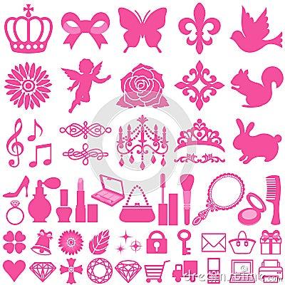 Free Beauty Icons Stock Photo - 17706810