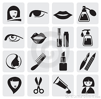 Free Beauty Icons Royalty Free Stock Photo - 25547205