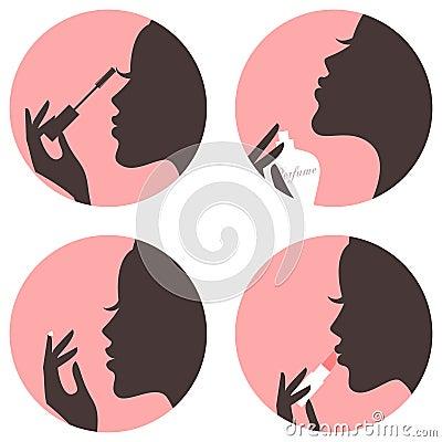 Free Beauty Icons Set Stock Photos - 32663193