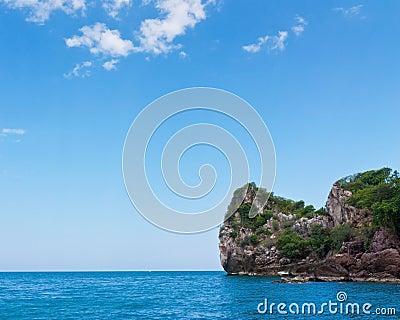 Beauty island on daylight