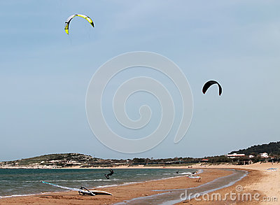 Beauty kite surfer