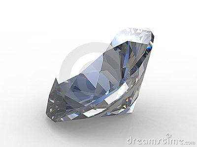 Beauty of large round diamond
